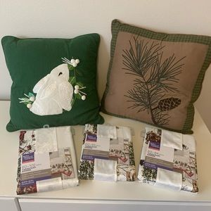 Woodland-theme Winter and Holiday Linens